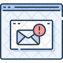 Website Wireframe Message Alert Mail Alert Icon