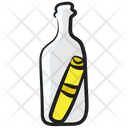 Message Bottle Doorpost Parchment Icon