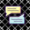 Message Bubbles Speech Bubble Bubble Chat Icon