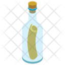Message In Bottle Communication Email Icon