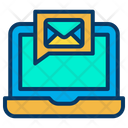 Laptop Message Mail Icon