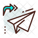 Message Sent Arrow Paper Plane Icon