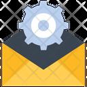 Message Setting Cog Wheel Communication Icon