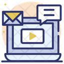 Message Video Icon