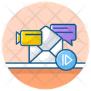Message Video Video Mail Video Communication Icon