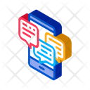 Many Telephone Messages Icon