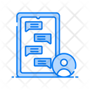 Messaging Mobile Communication Cell Phone Conversation Icon