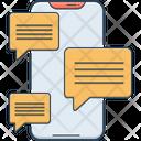 Messaging App Send Word Icon