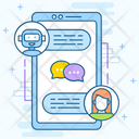 Messaging App Chatbot Robotic Chat Icon