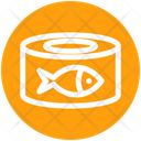 Metal Cans Fish Food Box Icon