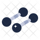 Weightlifting Metal Dumbbells Gym Equipment Icon