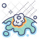 Disaster Meteor Astronomy Icon