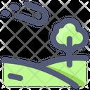 Meteor Landscape Tree Icon