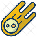 Meteor Asteroid Comet Icon