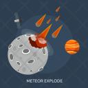 Meteor Explode Galaxy Icon