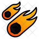 Meteorit Space Disaster Icon