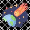 Meteorite Asteroid Comet Icon