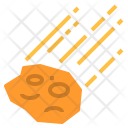 Meteorite Debris Space Icon