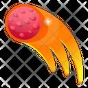 Fireball Meteorite Comet Icon