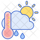 Meteorology Thermometer Sun Icon