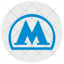 Metro Metropolitan Label Icon
