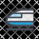Metro Train Fast Train Speed Icon
