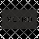 Metro ticket Icon