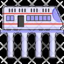 Train Railway Bridge Metro Train Icon