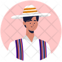Mexican Boy Wear Mexican Wearing Traditional Clothes Icon