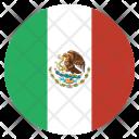 Mexico Flag Circle Icon