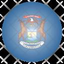 Michigan Us State Icon