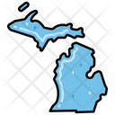 Michigan States Location Icon