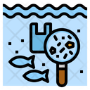 Microplastics Water Pollution Icon