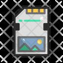 Color D Effect Micro Sd Sd Card Icon