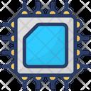Memory Chip Storage Device Digital Card Icon