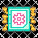 Micro Chip Color Icon