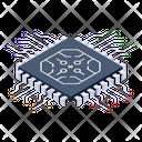 Microprocessor Microchip Integrated Circuit Icon