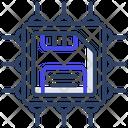Microchip Processor Card Microprocessor Icon