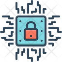 Microchip Encrypted Microchip Encryption Icon