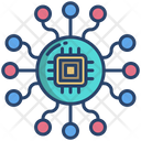 Microchip Circuit Microprocessor Icon