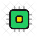 Microchip Processor Chip Technology Icon