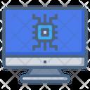 Microchip Monitor Screen Icon