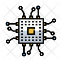 Microchip Chip Circuit Icon