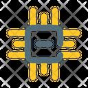Microcontroller Chip Set Icon