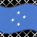 Flag Country Micronesia Icon