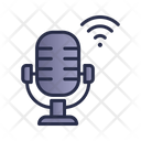 Microphone Speakers Wifi Icon