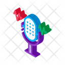 Microphone Sound Wave Icon