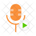 Microphone Turn Play Icon