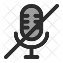 Microphone Mute Silent Voice Icon
