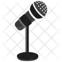 Microphone With Stand Mic Microphone Icon